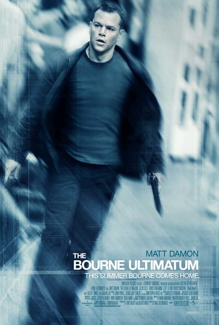 Jason Bourne on the poster of Bourne Ultimatum.