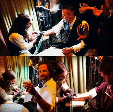 Jared Padalecki, Jensen Ackles and Jeffrey Dean Morgan get their tattoos together.