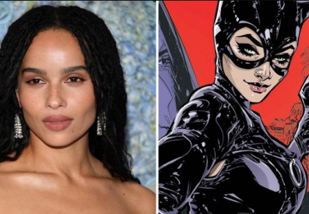 fan rendition of Zoe Kravitz as catwoman.