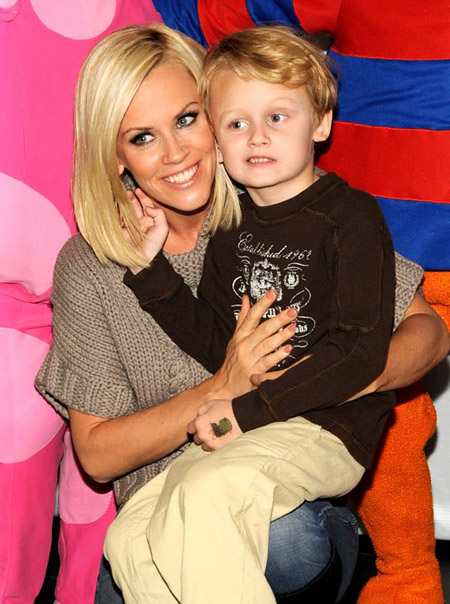 Jenny McCarthy with her son Evan Asher