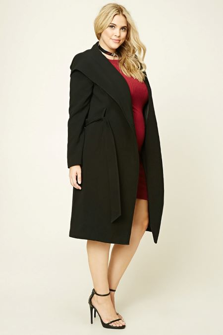 Shawl collar coat is made from soft fabric.