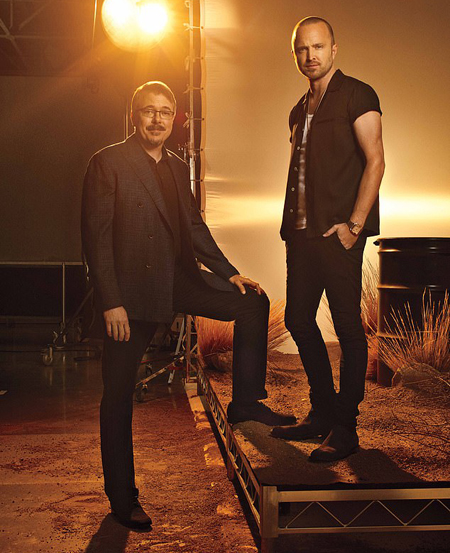 Vince Gilligan and Aaron Paul.