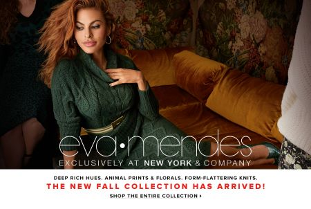 Eva Mendes has been working with NY&Co. for six years now.