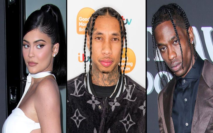 "After ""Split"" With Travis Scott, Kylie Jenner Was Seen Outside of Ex Tyga's Recording Studio"