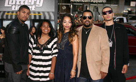 The family of Ice Cube and Kimberly Woodruff.