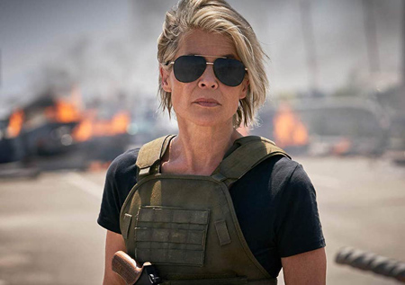 Linda Hamilton was convinced to come back to the Terminator franchise.