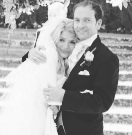 Holly Willoughby and her husband Dan Baldwin during their wedding.