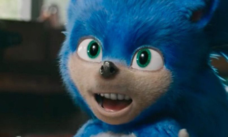 Sonic the Hedgehog before it was redesigned by Paramount.