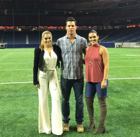 (From left) Kealia is close with Megan's husband, Brian Cushing.