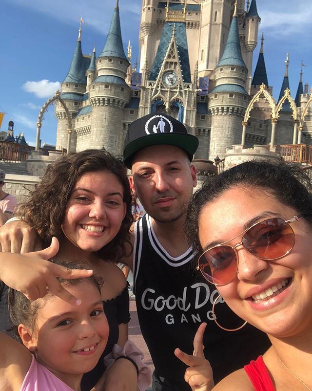 Termanology's Family Goals completed with a visit to Disneyland. Two Daughters and their mom taking a selfie.