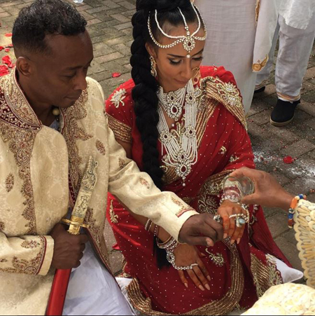 Professor Griff and Sole getting married.