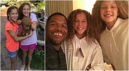 Michael Strahan's twin daughters.