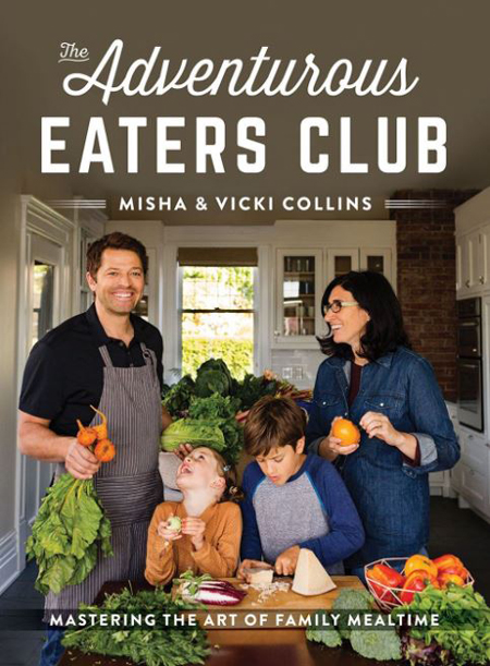 Misha Collins and Victoria Vantoch wrote a book together with the whole family on the cover.