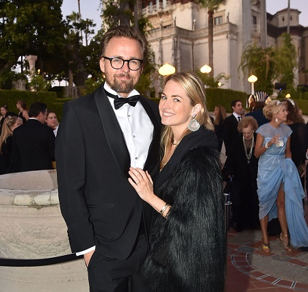 Joachim Ronning and Amanda Hearst attend Hearst Castle Preservation Foundation - Hollywood Royalty Dinner at Hearst Castle on September 28, 2018 in San Simeon, CA.
