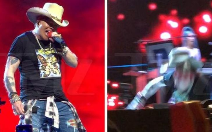 Axl Rose Sustains a Nasty Fall Recently at Guns N' Roses Show; Speaks on their New Album