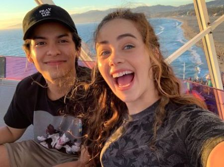 Xolo Mariduena spending time with his friend, Mary Mouser.