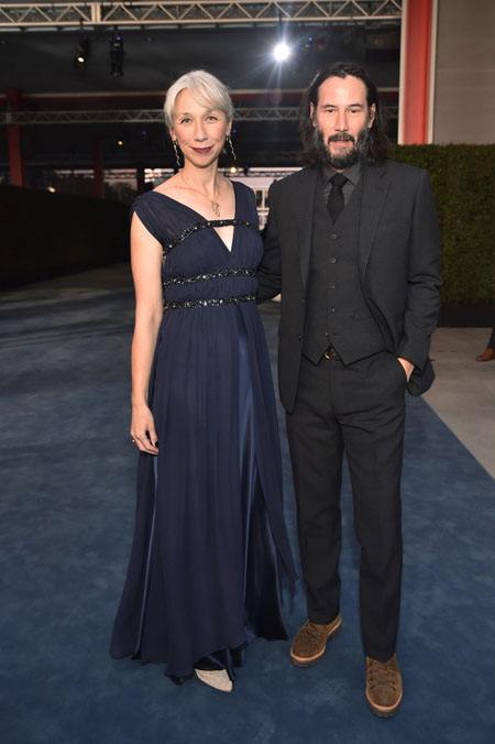 Alexandra Grant and Keanu Reeves made their red carpet appearance on 2 November 2019.