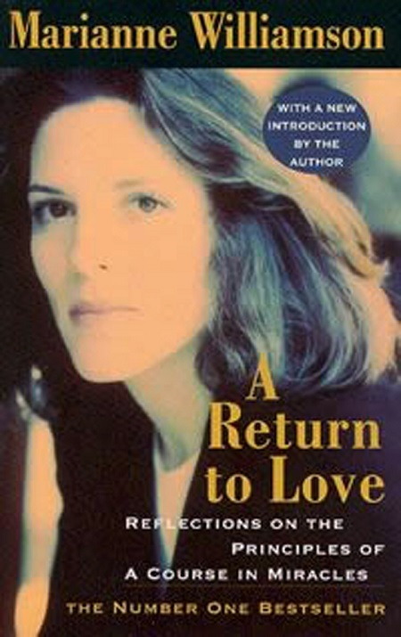 The cover of Marianne Williamson's book, 'A Return to Love'.