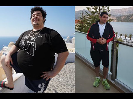 Greekgodx worked his butt off to get from 370 pounds to below 300 pounds in a year's time.