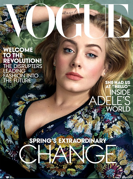 Cover of Vogue magazine March 2016 Issue.