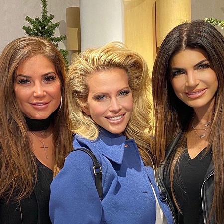 Dina Manzo in between Teresa Giudice and Rosana Costa for the viral photo.