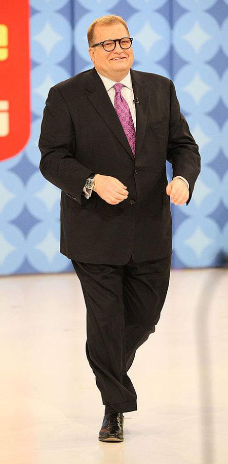 At his heaviest Drew Carey was over 260 pounds of weight.