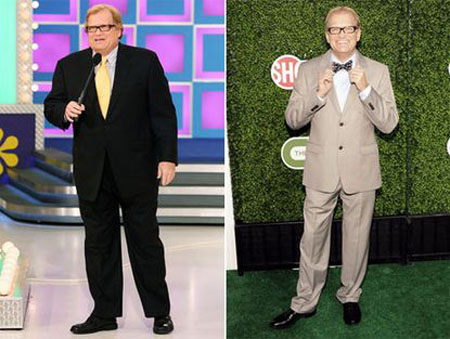 Drew Carey was able to get his weight in the 160 pounds range after controlled diet and exercise.