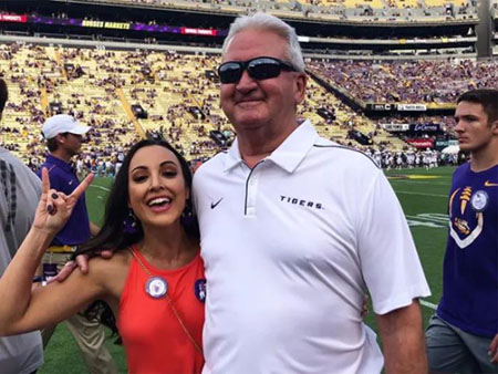 Steve Ensminger and Carly McCord shared a teasing relationship.