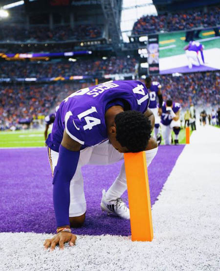 Stefon Diggs is a player for the Minnesota Vikings.