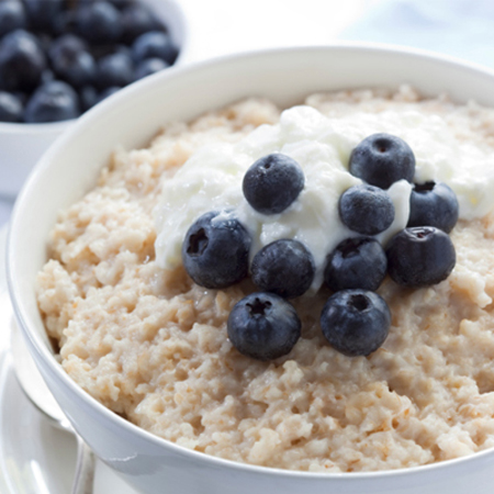 Oatmeal is when Kristin Chenoweth starts her day.