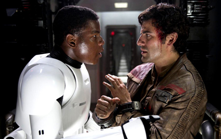 Poe and Finn were introduced in a The Force Awakens with a lot of chemistry.