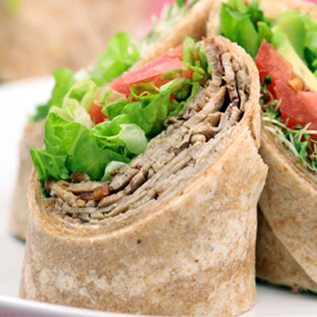 Veggie Wraps are another food she enjoys and is healthy to eat.