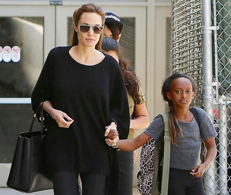 Zahara Marley Jolie-Pitt appeared in movies with her mother.