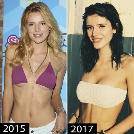 Bella Thorne chest seems to be larger than it used to be.