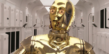 C3PO was the one who guided us through the Star Wars saga way back in 1977.