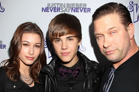 Stephen Baldwin (right) with daughter Hailey Baldwin-Bieber and son-in-law Justin Bieber a long time before their wedding.