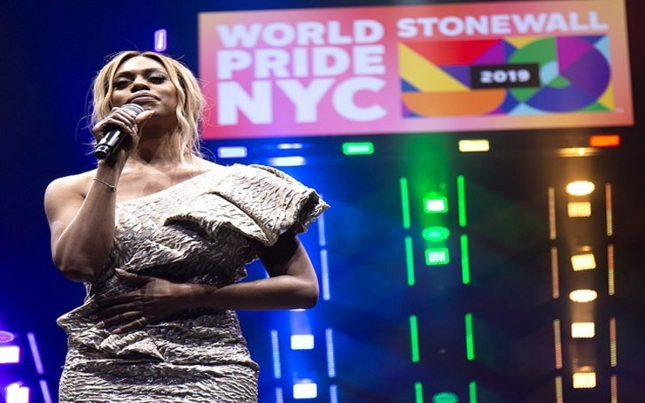 Laverne Cox Stuns In leggy Metallic Mini-Dress To Deliver Inspiring Speech At WorldPride NYC