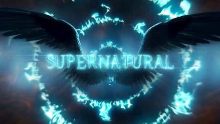 Angel wings are seen right behind the Supernatural logo in the poster for supernatural season 14.