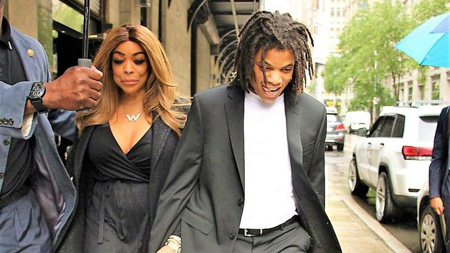 Wendy Williams and Kevin Hunter Jr. out in the streets.