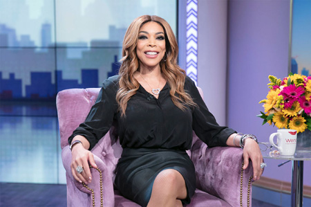 Wendy Williams sits on the set of the Wendy Williams Show.