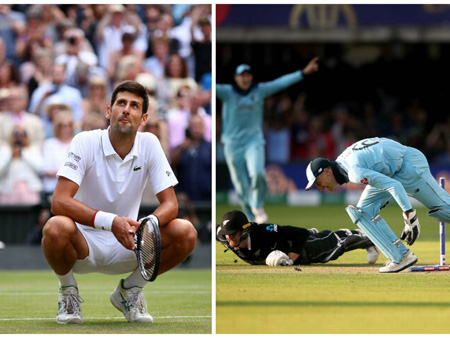 Side by side image of ICC world cup and Wimbledon.