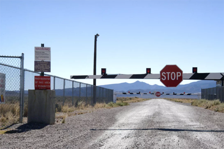 The gates at Area 51.