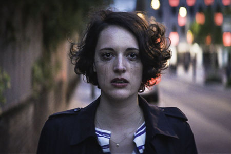 Mascara flows from Phoebe Waller-Bridge's eyes in the poster for Fleabag.