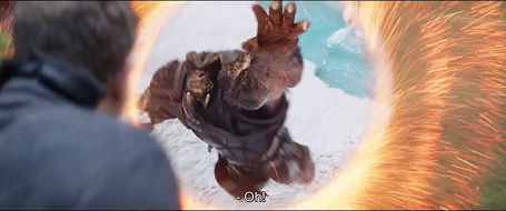 Black Dwarf about to get his hand cut-off. Avengers: Infinity War [2018]