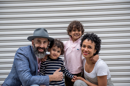 Lauren Ridloff with her family.