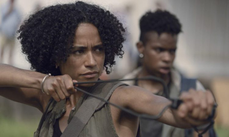Lauren Ridloff as Connie in The Walking Dead.