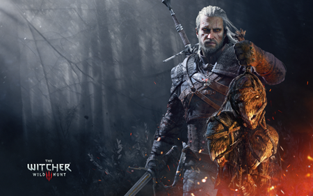 The poster for The Witcher 3.