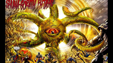 Shuma-Gorath in the comics.