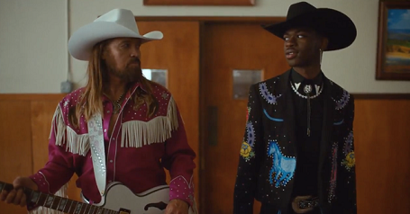 "Billy Ray Cyrus and Lil Nas X in ""Old Town Road"""