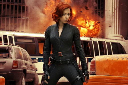 Black Widow in Avengers.
